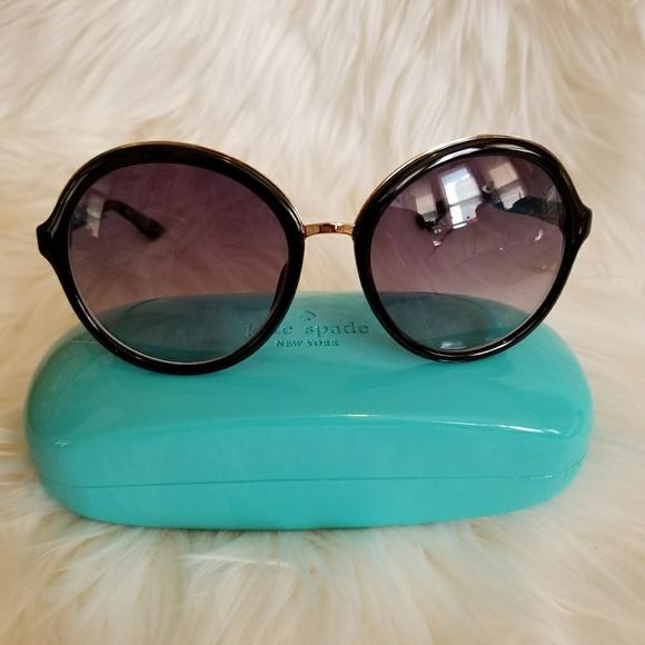 61ce0b2d37 Kate Spade Annabeth Black Sunglasses Eyewear